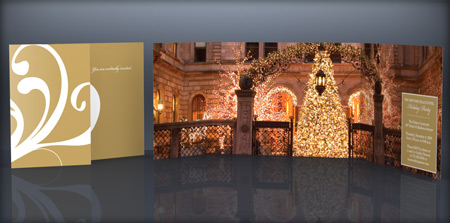 THE NEW YORK PALACE HOTEL CLIENT HOLIDAY PARTY INVITATIONS
